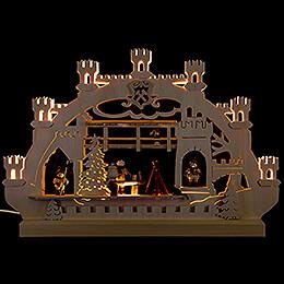 Double-Arch Village Christmas - 42x30x4,5 cm / 16x12x2 inch