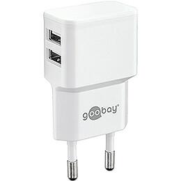 Double USB Wall Power Supply 110-220V/5V - 2 cm / 0.8 inch
