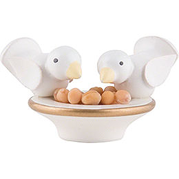 Doves pick over Peas - 2 cm / 0.8 inch