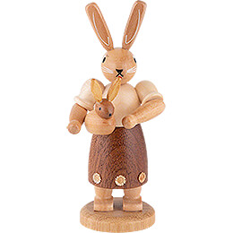 Easter Bunny Mother with Child - 11 cm / 4 inch