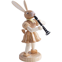 Easter Bunny with Clarinet, Natural - 7,5 cm / 3 inch