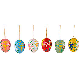 Easter Ornament - Easter Egg - 6 pieces - 5 cm / 2 inch