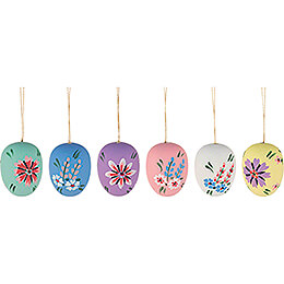 Easter Ornament - Easter Egg Semigloss - 6 pieces - 4 cm / 1.6 inch