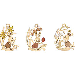Easter Ornament - Snubby with Flower, 6 pcs. - 6,5 cm / 2.6 inch