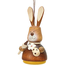 Easter Ornament - Teeter Bunny with Paintbrush Natural - 9,8 cm / 3.9 inch