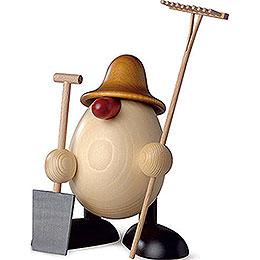 Egghead Benno, Gardener, Brown - 11 cm / 4.3 inch