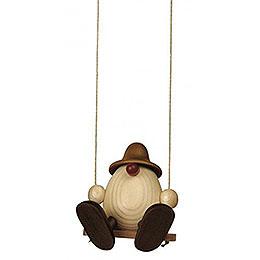 Egghead Bruno on Swing, Brown - 11 cm / 4.3 inch