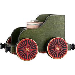 Eisenbahnwagen grün - 19x12x13 cm