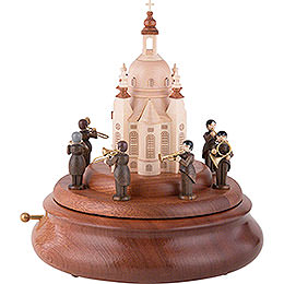Electronic Music Box - Brass Band at the Church of Our Lady - 21 cm / 8 inch