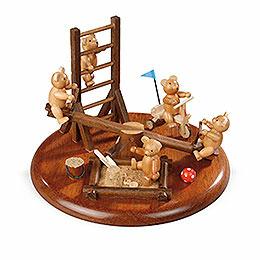 Elektronische Spieldose Bärenspielplatz - 15 cm