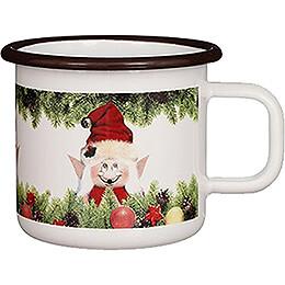 Emaille-Becher Weihnachtself