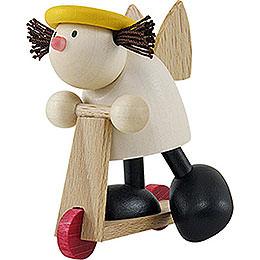 Engel Lotte auf Roller - 7 cm