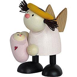 Engel Lotte mit Baby Mädchen - 7 cm