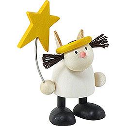 Engel Lotte stehend mit Stern - 7 cm