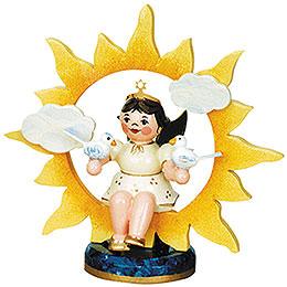 Engel-Sonne mit Tauben - 6,5 cm