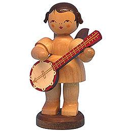 Engel mit Banjo - natur - stehend - 9,5 cm