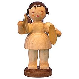 Engel mit Becken - natur - stehend - 9,5 cm