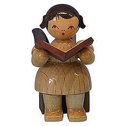 Engel mit Buch - natur - sitzend - 5 cm