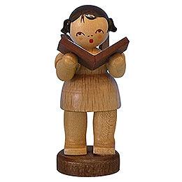 Engel mit Buch- natur - stehend - 6 cm