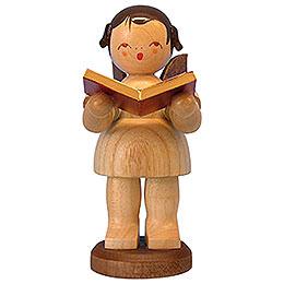 Engel mit Buch - natur - stehend - 9,5 cm