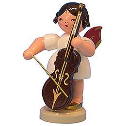 Engel mit Cello - Rote Flügel - stehend - 9,5 cm