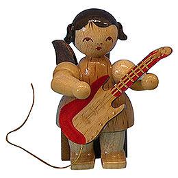 Engel mit E-Gitarre - natur - sitzend - 5 cm