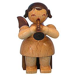 Engel mit Flöte - natur - sitzend - 5 cm