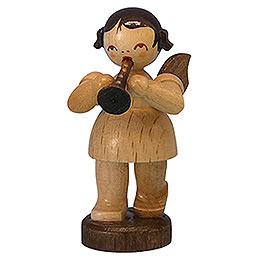 Engel mit Flöte - natur - stehend - 6 cm