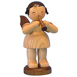 Engel mit Flöte - natur - stehend - 9,5 cm