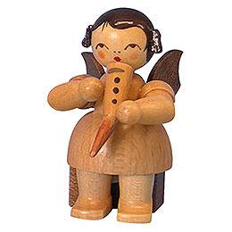 Engel mit Gemshorn - natur - sitzend - 5 cm