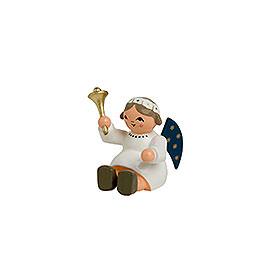 Engel mit Glocke, sitzend - 4 cm