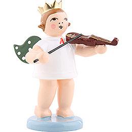 Engel mit Krone und Geige - 6,5 cm