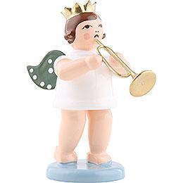 Engel mit Krone und Jazztrompete - 6,5 cm