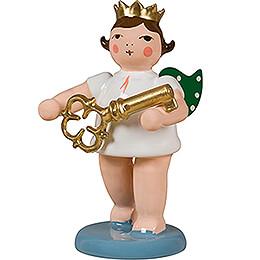 Engel mit Krone und Schlüssel - 6,5 cm