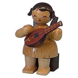 Engel mit Mandoline - natur - sitzend - 5 cm