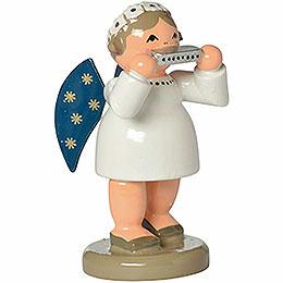 Engel mit Mundharmonika - 5 cm