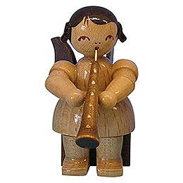 Engel mit Oboe - natur - sitzend - 5 cm