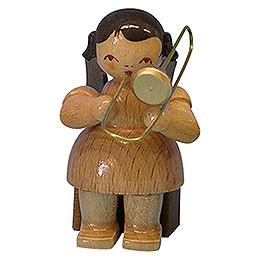 Engel mit Posaune - natur - sitzend - 5 cm