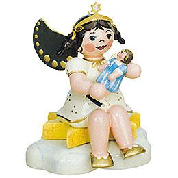 Engel mit Puppe-sitzend - 6,5 cm