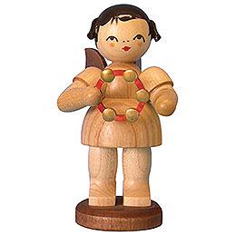 Engel mit Schellenring - natur - stehend - 9,5 cm