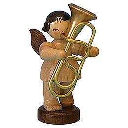 Engel mit Tuba - natur - stehend - 6 cm