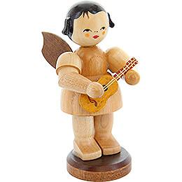 Engel stehend mit Ukulele - natur - 9,5 cm