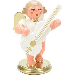 Engel weiß/gold mit Gitarre - 6,0 cm