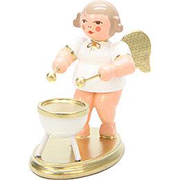 Engel weiß/gold mit Kesselpauke - 6,0 cm