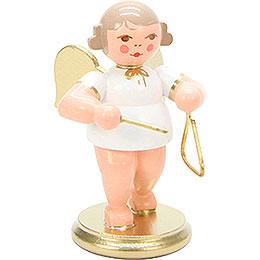 Engel weiß/gold mit Triangel - 6,0 cm