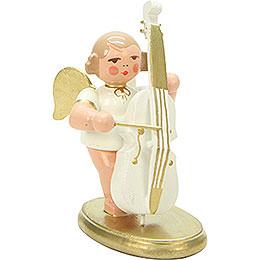 Engel weiß/gold mit Bass - 6,0 cm