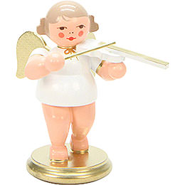 Engel weiß/gold mit Geige - 6,0 cm