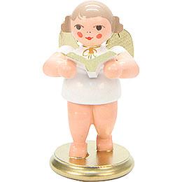 Engel weiß/gold mit Gesangbuch - 6,0 cm