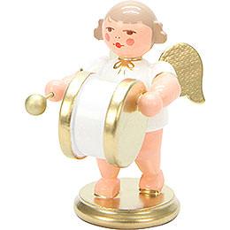 Engel weiß/gold mit gr. Trommel - 6,0 cm