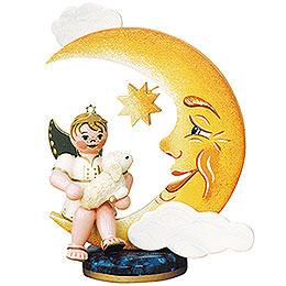 Engelbub-Mond mit Schäfchen - 10 cm